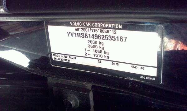 VIN-код Volvo