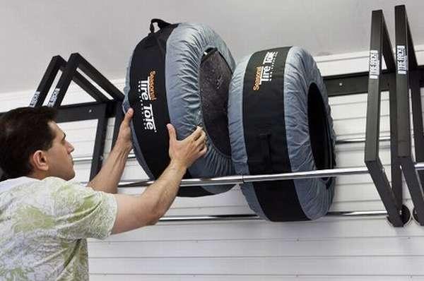 Кронштейн для колес в гараж