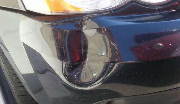Как выправить вмятину на бампере автомобиля