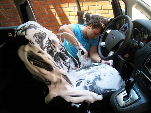 Чистка сидений автомобиля