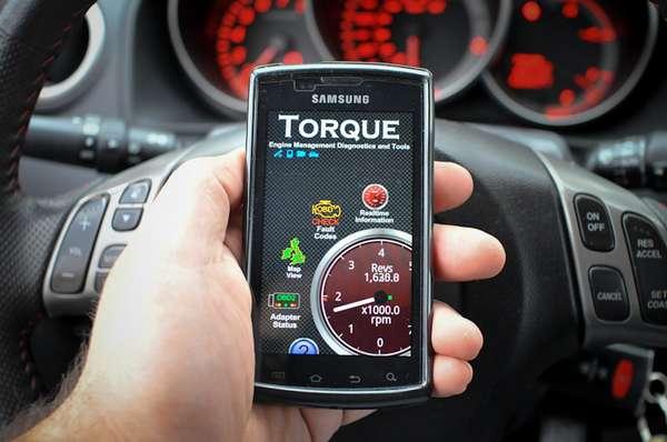 Использование приложения Torque