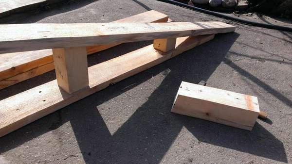 Возведение деревянной мини эстакады