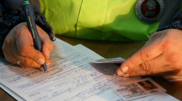 Составление протокола на лишение прав