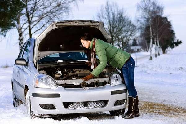 Прогревание двигателя зимой