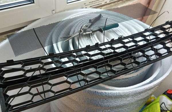 Изготовление сетки на решетку радиатора
