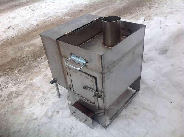 Печи из металла имеют простую конструкцию и недороги в изготовлении