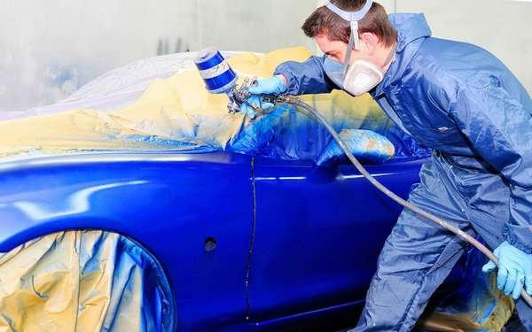 Покраска автомобиля с помощью компрессора