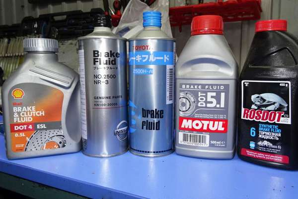 Тормозная жидкость для автомобиля