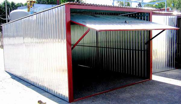 Металлический листовой гараж