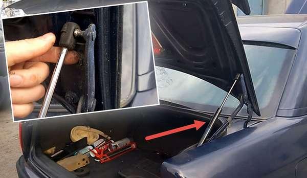 Как выбрать амортизаторы крышки багажника или капота