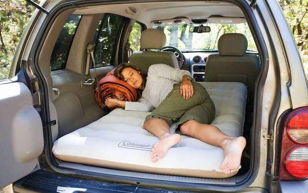 Надувной матрас для багажника автомобиля