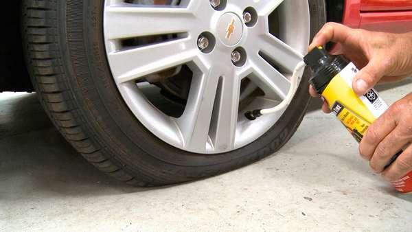 Применение герметика для шин