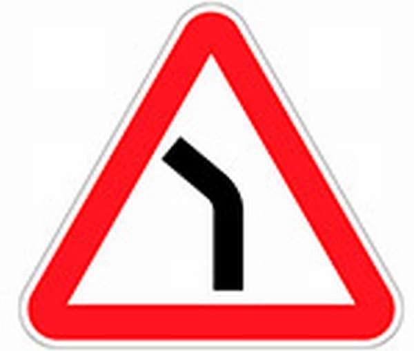 Понятие и описание знака опасный поворот
