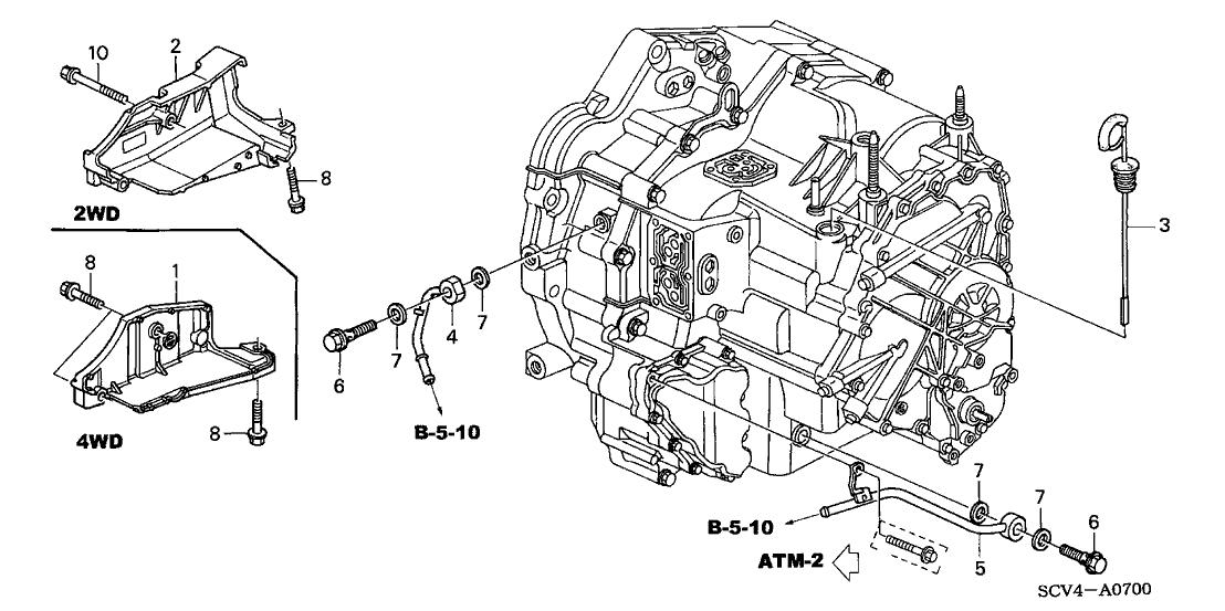 Замена трансмиссионного масла в АКПП Хонда