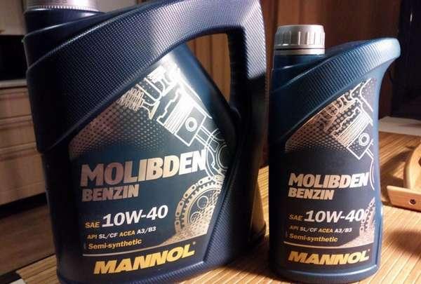 Пример масла с молибденом