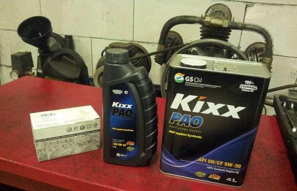 Использование масла Kixx 5W-30