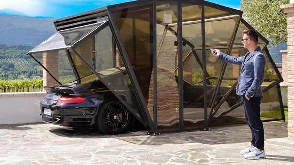 Складной гараж-беседка