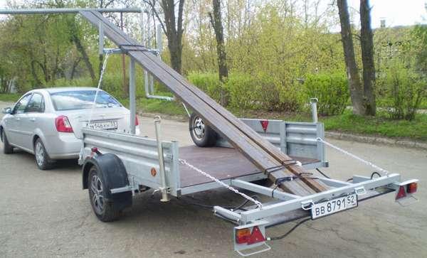 Перевозка длинномерного груза на легковом автомобиле