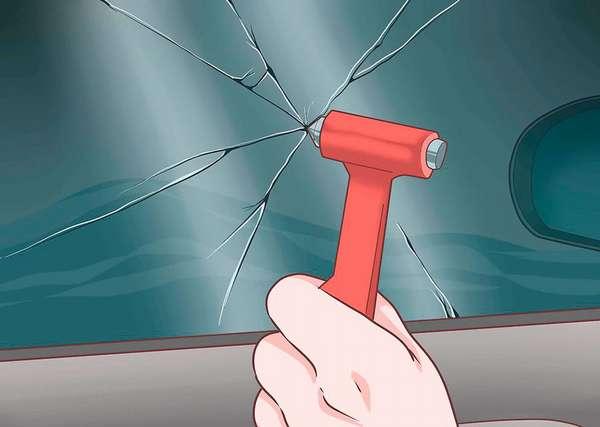 Разбить стекло автомобиля