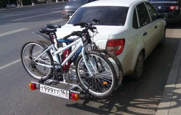 Транспортировка велосипеда на задней двери