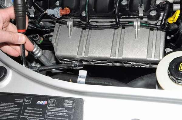 Снять защиту двигателя