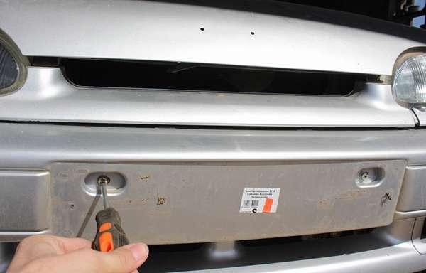 Демонтаж переднего бампера