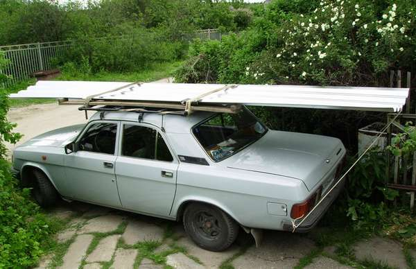 Перевозка груза на багажнике авто