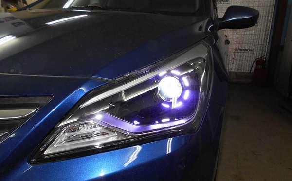 Биксеноновая оптика для машины
