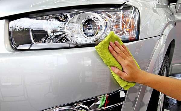 Использование полироли для авто