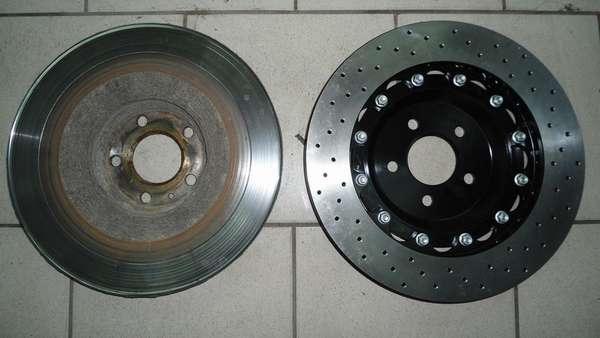 Стертые тормозные диски