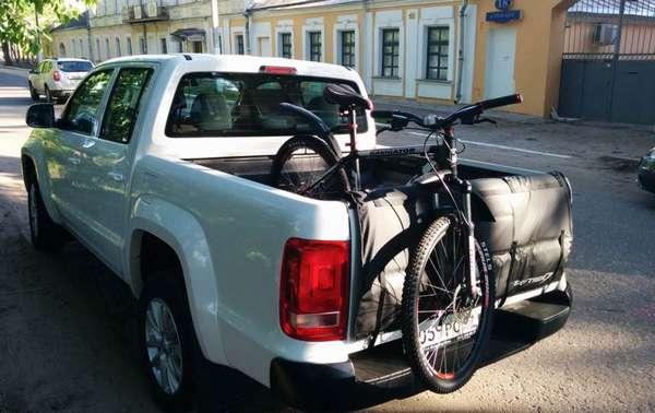 Транспортировка велосипеда на пикапе