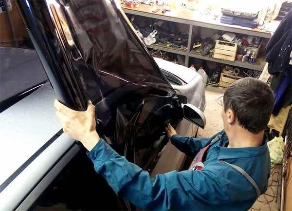 Подготовка автомобиля к тонировке