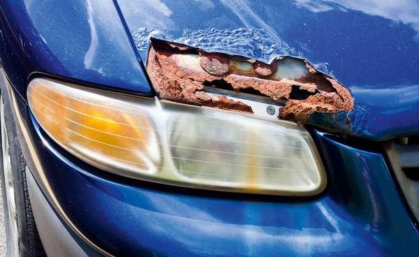 Удаление коррозии на автомобиле