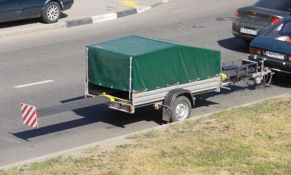 Перевозка длинного груза на легковом автомобиле