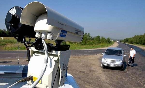 Работа дорожной камеры