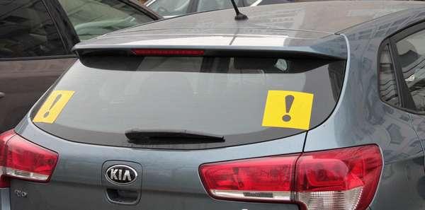 Использование знака начинающий водитель