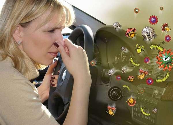 Загрязнённый воздух в салоне автомобиля